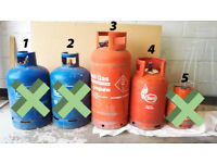 Calor gas propane bottles – empty