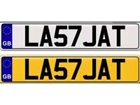 LAST JAT a private number plate