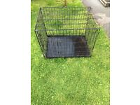 Large wired dog cage