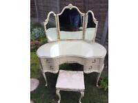 Olympus dressing table with stool