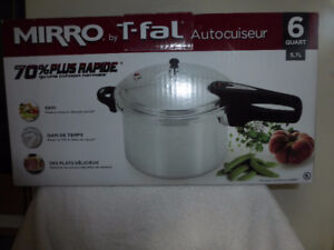 Mirro T-Fal 6 Quart Pressure cooker. Retails for $84.00