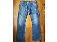 Diesel Mens Jeans Regular Slim 34 inch Leg 32