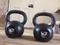 2 x 40kg Kettlebells