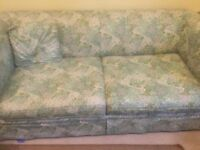 Laura Ashley style sofa bed and armchair three piece classic design