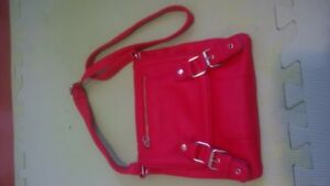 red cross shoulder purse