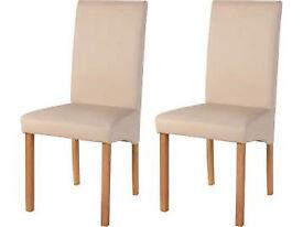 Brand new pair of cream chairs