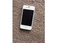 i phone 4s white 16gb unlocked need new lcd no icloud lock