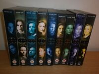 X-Files DVDs, all 9 seasons.