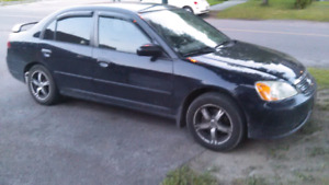 Honda civic 2001 1000$ FERME