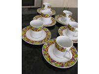 Coffee cup and saucer set, perfect condition. Polish make Lubiana bone china