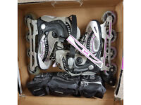 Inline Skate (Size: UK 4, Eur 37) and free Protection pack