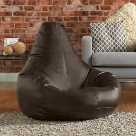 Bean Bag Chair in Faux Leather