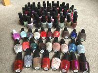 80 assorted bottles of OPI nail varnish