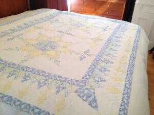 Couvre lit courtepointe pour lit simple pour un look champêtre !