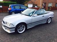 """2000 BMW 318 M-SPORT CONVERTIBLE """"PASSED MOT YESTERDAY """" FULL BLACK LEATHER £1250 Ono"""