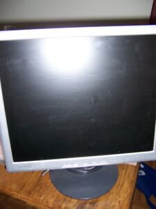 "17"" Lcd computer monitor $10. Very good condition. computer ran"