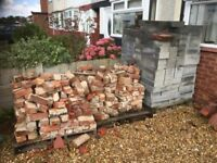 1 pallet of bricks and 1 pallet of breeze block for sale