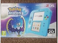 Nintendo 2ds with Pokemon moon special edition