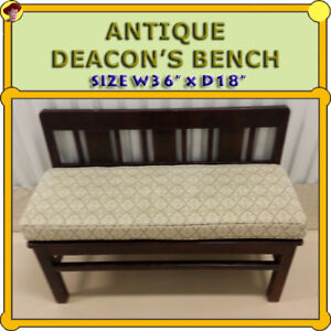 DEACON'S BENCH - ORIGINAL FROM A CHURCH IN CHINA