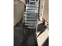 Six aluminium chairs for sale In a good condition