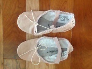 Girls Leather Ballet Shoes