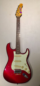 Jay Turser Vintage Series guitar, Yamaha amplifier, patch cord