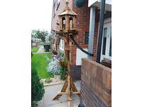Bird table, bird house