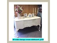 Vintage painted sideboard, shabby chic dresser