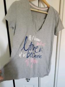 *Maternity* Thyme pink & grey PJ set