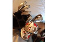 Golf clubs for sale. John letters T8 Irons, Rebel Driver & Plus More.. Open to offers for the lot