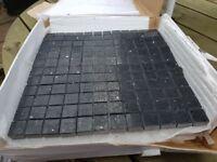 Black Quartz Mosaic Tiles & Apoxy Adhesive