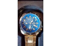 BRAND NEW GENTS STYLISH GOLD WATCH