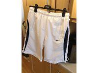 Nike white shorts medium