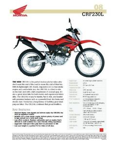 Barely used Honda CRF230L with accessories