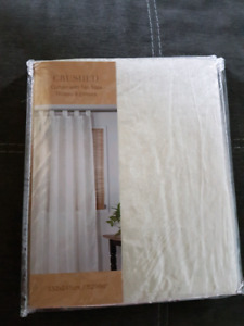 2 tab top curtains - brand new never opened