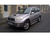 51 PLATE TOYOTA RAV4, 2.0 DIESEL, 4X4, SILVER, LOVELY CONDITION, LONG MOT, S/HISTORY.TEL.07803366789