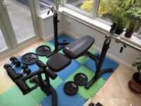 Adidas Olympic Bench / Height adjustable Squat rack.