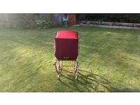 Silver Cross Dolls Pram Maroon