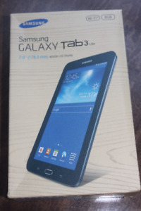 NEW SAMSUNG GALAXY TAB 3 LITE ( Black not White) 7 in. screen