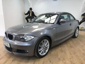 BMW 1 SERIES 2.0 123D M SPORT 2d 202 BHP AUX + VOICE CONTROL (grey) 2011