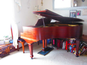 Custom Made Mahogany Baby Grand Piano