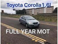 £675 2002 Toyota Corolla 1.6l* like astra focus cmax megane civic scenic vectra mondeo