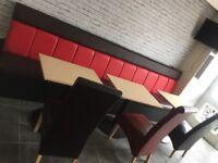 Takeaway seatings and tables