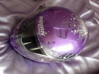 Purple ladies or teens crash helmet size small mint condition only worn a few times
