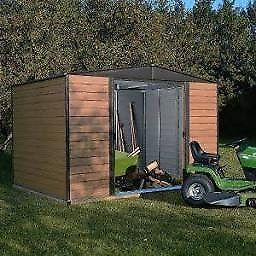 8 x 6 Woodvale Metal Apex Shed. New. Flatpack. PICK UP TODAY.