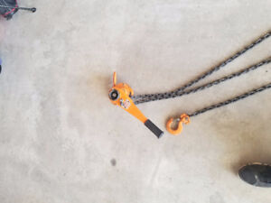 Westward 1 1/2 ton chain puller/ come along