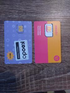 Koodo Prepaid and Postpaid Sims
