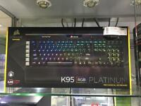 Corsair K95 RGB Platinum gaming keyboard- new