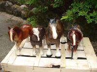 four ceramic horses