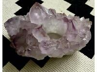Large amethyst candle holder
